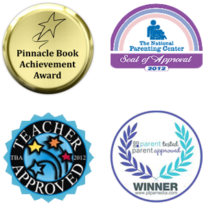 winner of the PTPA seal of approval, National Parenting Center seal of approval, Teaching Blog Addict seal of approval, and Pinnacle Book Award